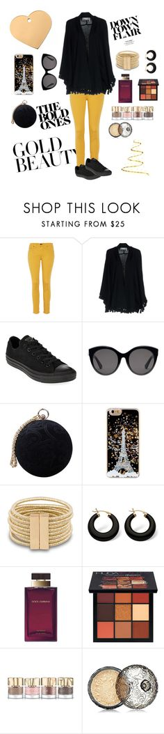 """""""Be Gold✨"""" by unitaiyo ❤ liked on Polyvore featuring rag & bone, Chloé, Converse, Gucci, Carvela, Palm Beach Jewelry, Dolce&Gabbana, Huda Beauty, Smith & Cult and Anna Sui"""