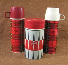 Vintage Thermos   plaid or diamond  choose one by SkippiDiddle, $10.00