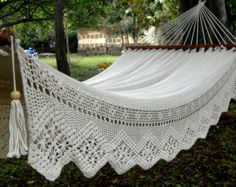White Queen Hammock, with special side embroidery (extra thickness 42)