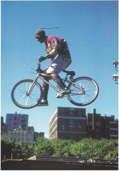 BMXer at Mullaly Skatepark, Bronx , NYC 1995 - Martha Cooper