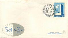 Peru 1970 FDC XXV aniversario Firma Carta de Las Naciones Unidas UN