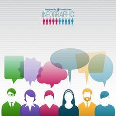 Pessoas comunicação infográfico Vetor grátis