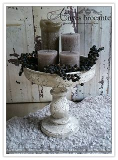 Christmas Time, Xmas, Deco Nature, Small Wood Projects, French Country Decorating, Shabby Chic Decor, Making Ideas, Fountain, Decoupage