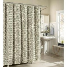 Creative Home Ideas Lenox Cotton Luxury 72 In W X L Shower Curtain Taupe Brown