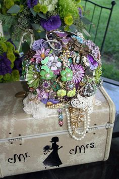 Lavender Trailing best movement 2012 by broochbouquets on Etsy, $375.00