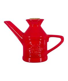 Look what I found on #zulily! Red Ceramic Oil Canister by Home Essentials and Beyond #zulilyfinds