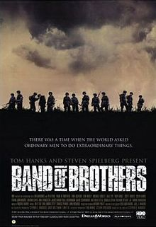 Band of Brothers.  2001.  We own the set.  Is about my Grandpa's 101st Airborne Division in WWII.