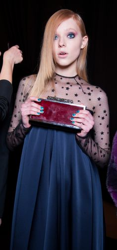Monique Lhuillier Fall/Winter 2015 Trunkshow Backstage on Moda Operandi
