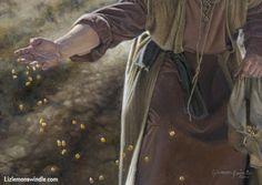 The Sower By Liz Lemon Swindle A man sows seeds in a field. Liz Lemon Swindle, Lds Art, Bible Pictures, Biblical Art, Christian Art, Christian Paintings, Christian Inspiration, Religious Art, Word Of God