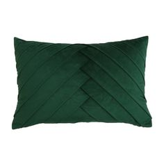 Oversize James Pleated Velvet Throw Pillow - Décor Therapy : Target Green Velvet Pillow, Green Throw Pillows, Lumbar Throw Pillow, Velvet Pillows, Emerald Green Decor, Green Home Decor, Emerald Green Bedrooms, Green Bedding, Green And Grey