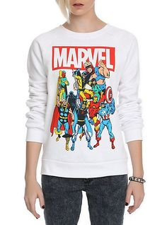 Marvel Group Girls Crewneck Sweatshirt | Hot Topic