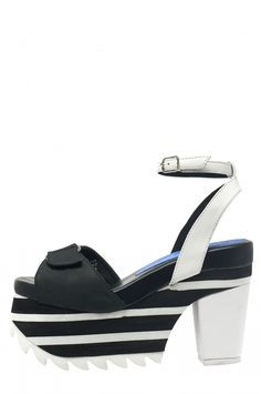 bb2a1f725ee Jeffrey Campbell Shoes RUMBA Sandals in Black White