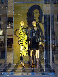 "Versace ""Kate Moss"" Window Displays"