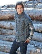 vesta barbati tricotata din fir Katia Maxi Merino culoare 13