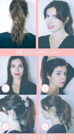 Comment transformer un «bad hair day» en «messy & cool hair day» ? Le tout sans y passer des heures, évidemment. Eh bien je vous explique comment faire une queue de cheval floue, qui peut s'avérer être un véritable cache misère les jours de cheveux «raplaplas». Comme j'ai bien compris que le principe de tuto […]