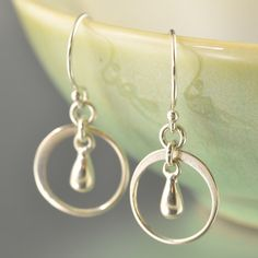 No fuss jewelry - Sterling silver Ring Tear drop earrings