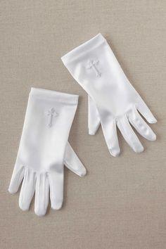 46e3263af01f Girls Embroidered Cross Gloves