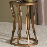 "Found it at Wayfair - Hourglass Table $83.50 SKU #: IQX1030,  antique copper finish feature a sturdy, metal top surface 20.25"" H x 13.5"" W x 13.5"" D, 16 lbs"
