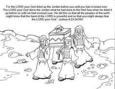 Joshua Crossing The Jordan River Kids Bible Story With Pictures Desktop Wallpapers And Coloring Pages References