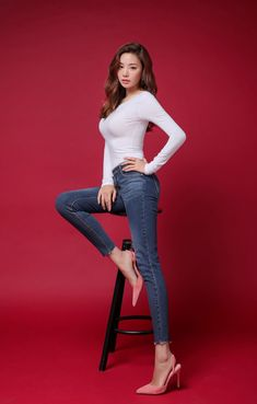 Slim Fit Scoop Back Tee is part of fashion Girl Art Colour - Korean Women's Fashion Shopping Mall, Styleonme N Fashion Models, Girl Fashion, Womens Fashion, Femmes Les Plus Sexy, Cute Asian Girls, Wonder Women, Beautiful Asian Women, Beautiful Images, Korean Women