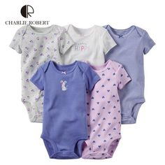 5Pcs Baby Clothing For Baby Girl Boy Bodysuit Short Sleeve Newborn Infant Jumpsuits Kids Summer Clothing Set Baby Clothes HK1206 #>=#>=#>=#>=#> Click on the pin to check out discount price, color, size, shipping, etc. Save and like it!