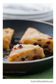 Cranberry Thyme Polenta Wedges - Vegan with a few basic substitutions like no-chicken broth, Earth Balance, and vegan cheese