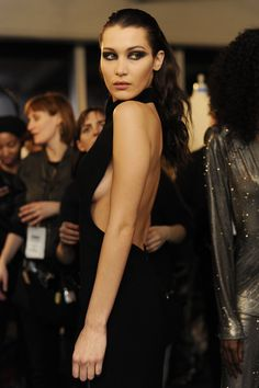 Bella Hadid backstage at Brandon Maxwell FW17. #NYFW