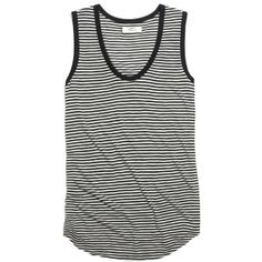 MADEWELL Draft Tank in Stripe found on Polyvore