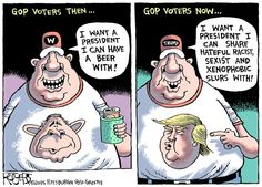 Image result for trump voters cartoons
