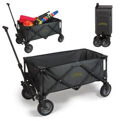 The Baylor University portable Wagon can be used for many tailgating and backyard party functions. The Adventure wagon comes with all-terrain wheels and a telescoping handle to carry tailgating gear,