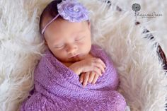 Lavender Stretch Knit Wrap Newborn Photography | Beautiful Photo Props