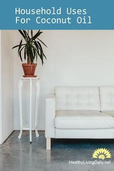 Read this article to learn the 5 household uses for coconut oil.   #coconutoilhouseholduses #coconutoil #householduses #usesofcoconutoil #householdusesofcoconutoil #furniture #crayon #polishfurniture #howtoremove #removecrayon #removeink #gum #removerust #destickchewinggum #ink #rust #naturalremover #healthylivingdaily #followme #follow