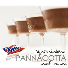 recept_nyårsmiddag_efterrätt_daimpannacotta Bakery Recipes, Dessert Recipes, Cooking Recipes, Snacks, Piece Of Cakes, Something Sweet, Chocolate Ganache, Food Cravings, Trifle