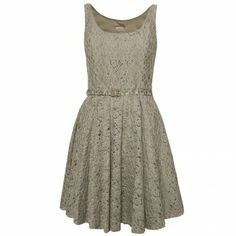 Available at www.my-favourite-thing.com Galliano lace summer dress in grey £360