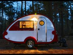 Inspired by the classic teardrop trailer, the T@B camper, available from  www.golittleguy.com , is a lightweight model available in sleek designs and bright colors for modern camping.