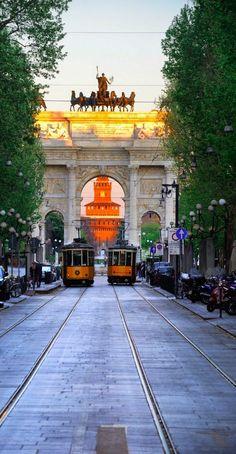 Arco della Pace. Milán, ITALIA.