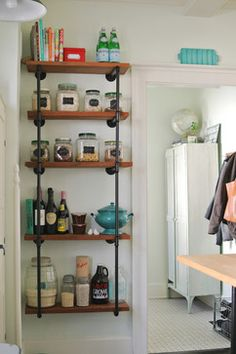 What a Simple and Easy Way To Do Open Shelving in the Kitchen | One Mile Home Style: Monday Eye Candy 4.6.15