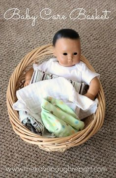 The Kavanaugh Report: Montessori Inspired Baby Care Basket - perfect for children with a new sibling that want to help their families.