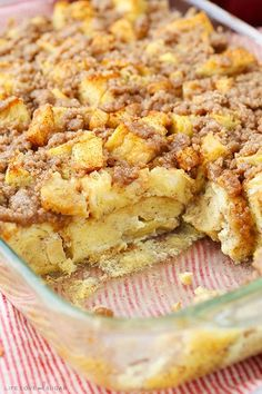Overnight Cinnamon Apple French Toast Casserole!