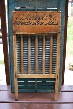 Washboard, Old, Early 1900's, E. Murdock & Co, Vintage, Antique, Wood, Wash Day, Laundry Room. $26.95, via Etsy.