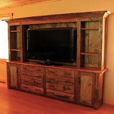 Hand Made Rustic Entertainment Center by Custom Rustic Furniture by Don McAulay Sr. & Jr. | CustomMade.com