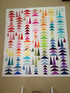 Rainbow Geese in the Forest by anna_levengood, via Flickr    This would be really fabulous to make someday.