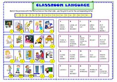 Classroom language for beginners: ESL printable worksheet of the day by sylviepieddaignel on September 3, 2015
