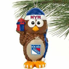 New York Rangers Resin Owl Ornament