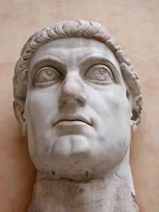 Constantine the Great, Basilica of Maxentius and Constantine, Rome, Italy, circa 325-326 CE, marble