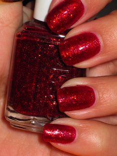 """Essie """"Ruby Slippers"""" - what a great festive color for Christmas"""