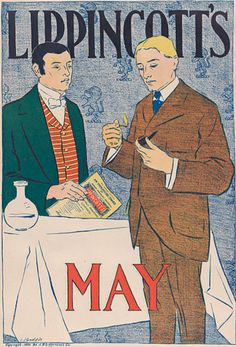 Joseph J. Gould, Jr. (1880-1935, American), 1895, Lippincott's: May, Lithograph, Publisher J. B. Lippincott Company, Philadelphia, 40.5 × 27.6 cm.