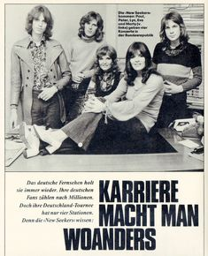 The New Seekers, who were appearing on the pop show Disco '72 on Saturday, 16th September, were featured in the German TV listings magazine Hörzu (16-22 September 1972). In addition to the full-page article and photo of the group on page 34, there was another small captioned photo of the New Seekers on page 55.
