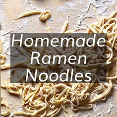 Make your own Homemade Ramen Noodles to use in all of your favorite ramen noodle. - Make your own Homemade Ramen Noodles to use in all of your favorite ramen noodle recipes! Chinese Noodle Recipes, Ramen Recipes, Homemade Ramen Noodle Recipes, Homemade Spaghetti Noodles, Homemade Noodles For Soup, Homemade Pasta Dough, Noodle Dough Recipe, Comida Ramen, How To Make Noodles