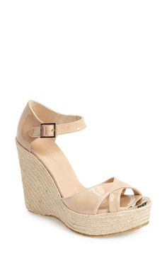 Dreaming of these Jimmy Choo wedge sandals. They're perfect for spring.
